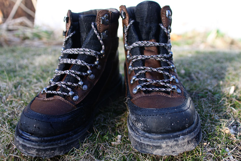 Rubber soled wading boots better than felt hopper for Rubber fishing boots