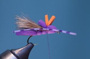 tying legs into hopper