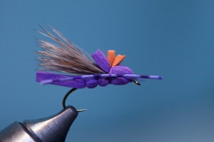 finished gfa purple foam hopper