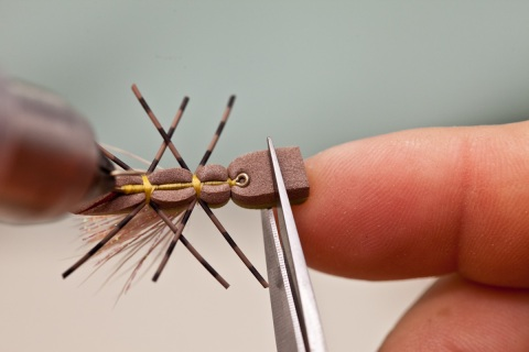 trimming head on foam fly