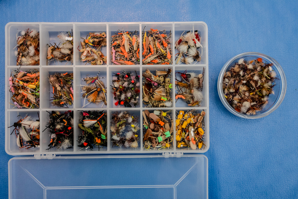 What s in my fly box august hopper fishing blog for The fishing fly box