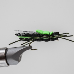 Black and green hopper