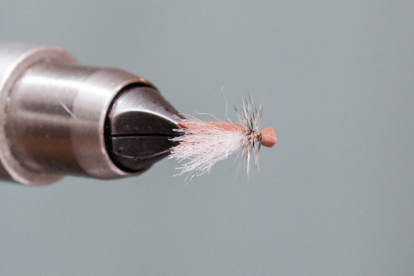 Top view of simple foam caddis
