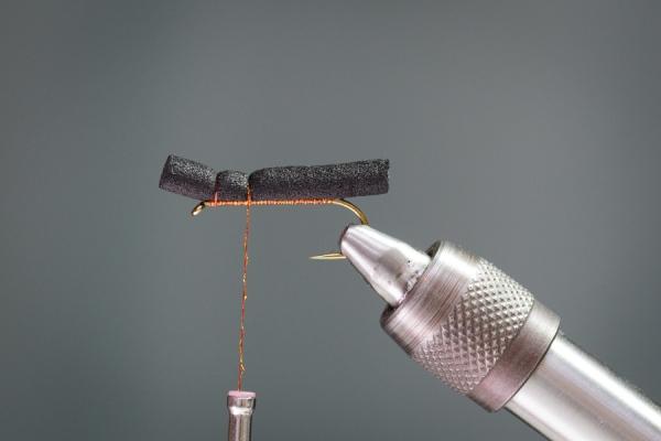 black foam cylinder stonefly
