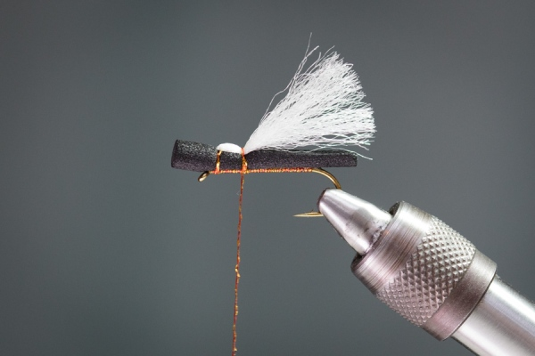 trimmed poly wing on foam stonefly pattern