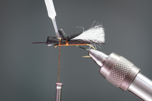 zap-a-gap glue to secure fly tying thread