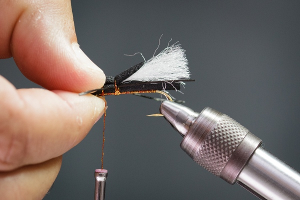 using fly tying glue on foam flies