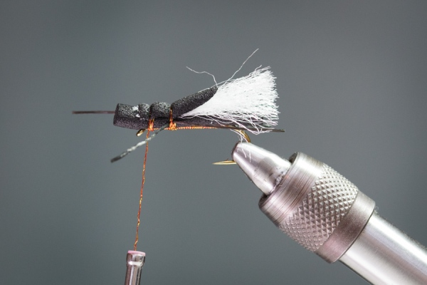 finish tying foam cylinder stonefly hopper