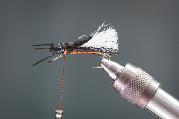 superflex legs on foam cylinder stonefly