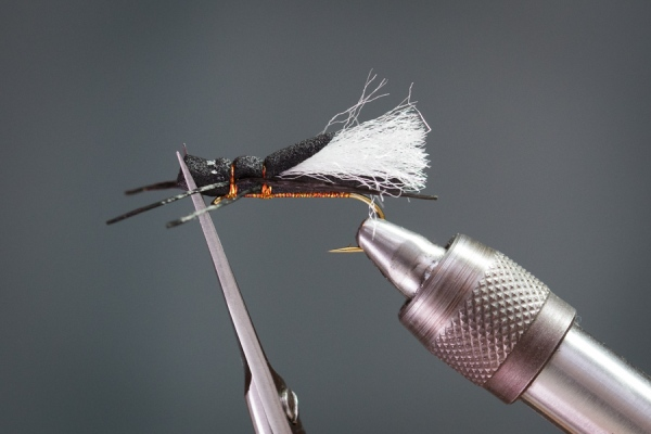 Trim head on foam fly