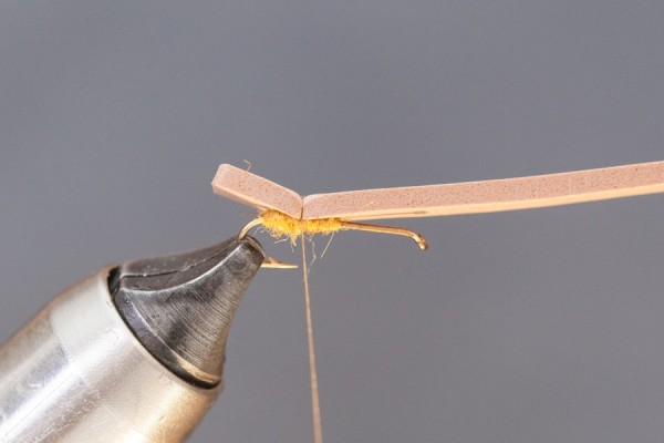 Tying foam onto hook